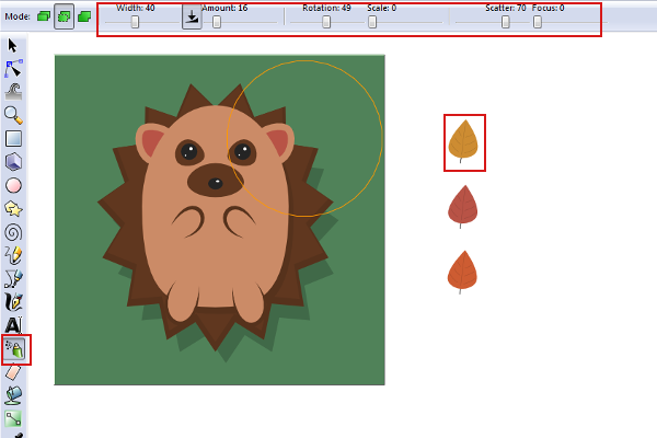 Adorable hedgehog made with Inkscape, by Aaron Nieze