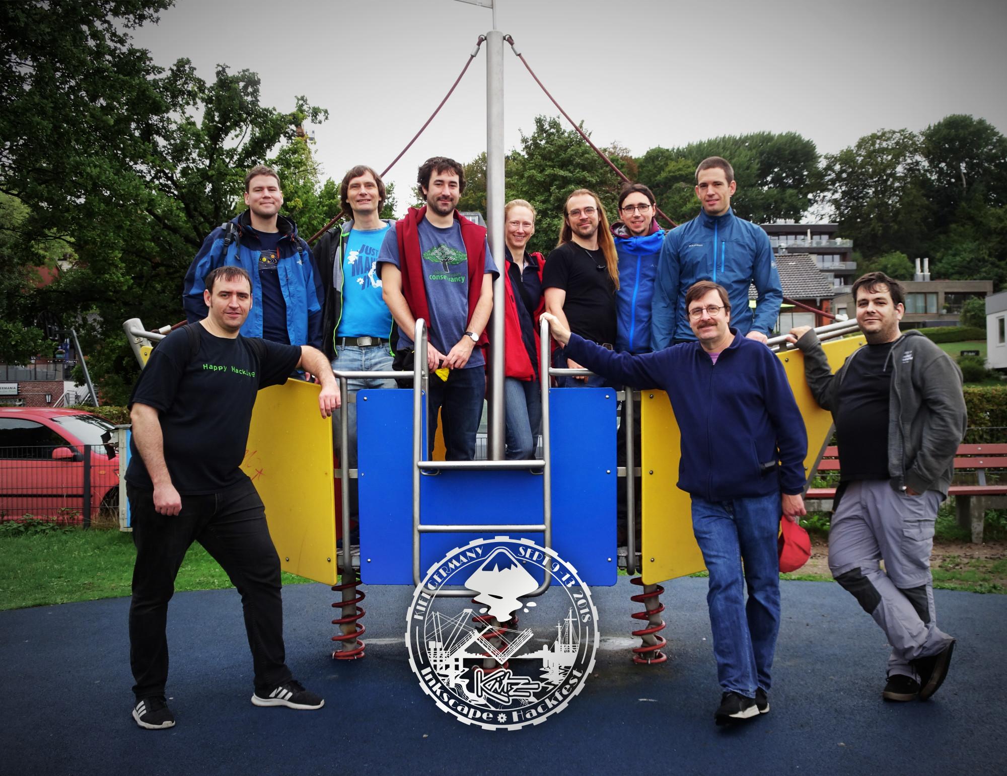 Inkscape team in Kiel