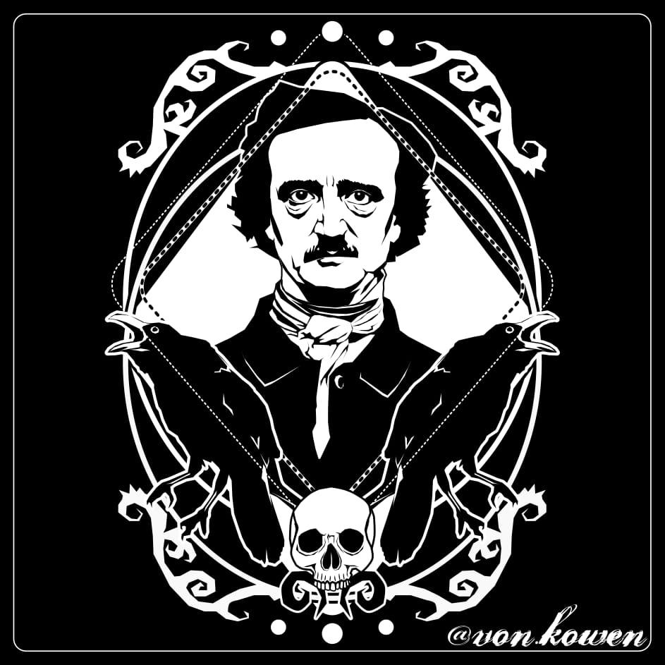 Sanda Krstulović, portrait of Poe