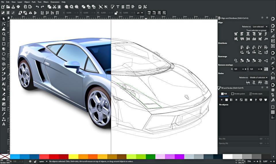 Splitting canvas in Inkscape