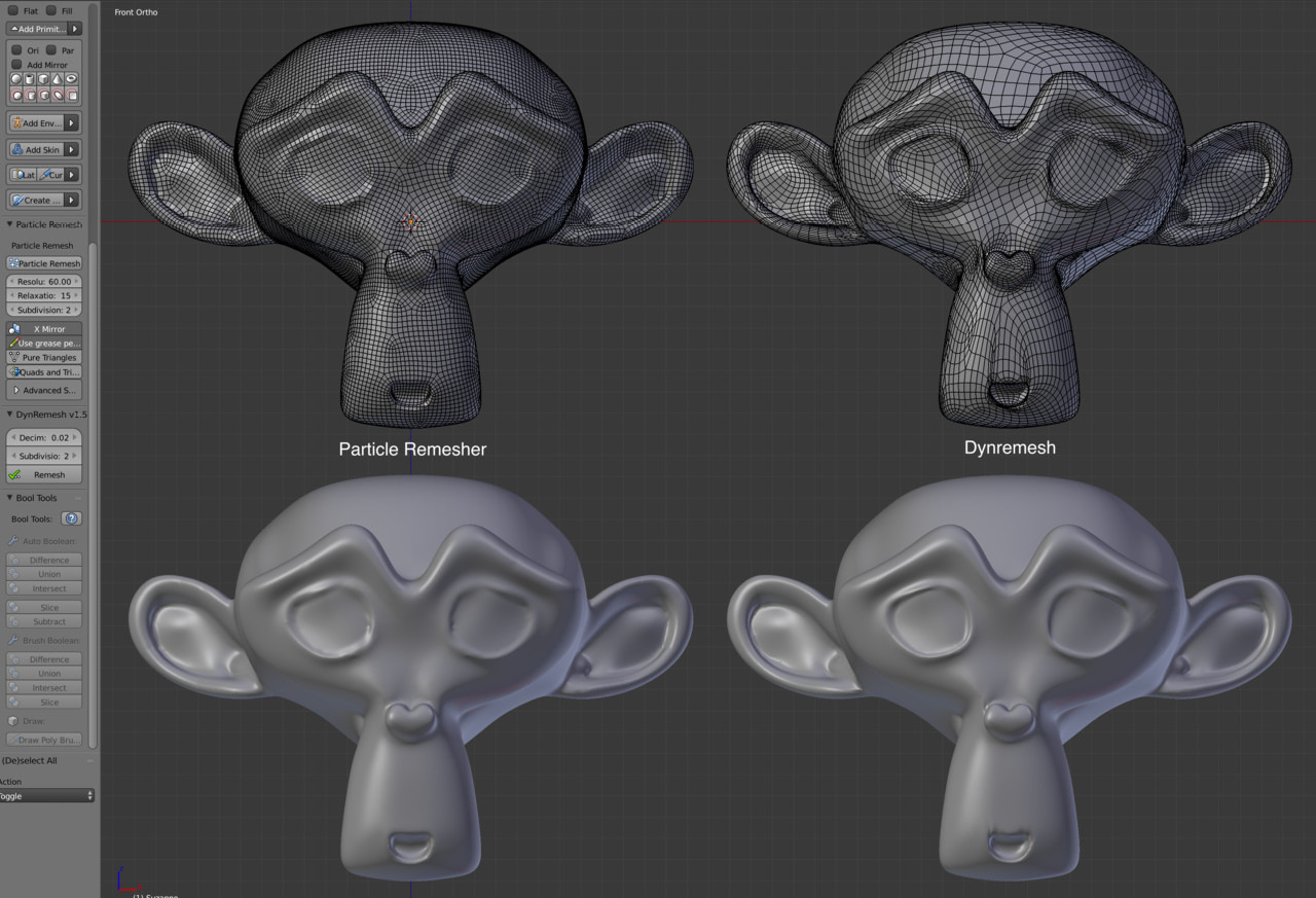 Auto-retopology add-ons for Blender