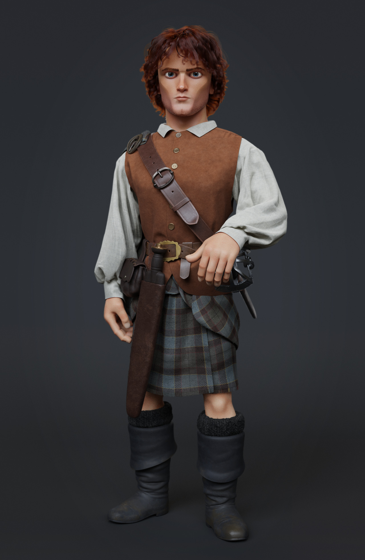 Jamie Fraser character by Isabelle Grandguillot