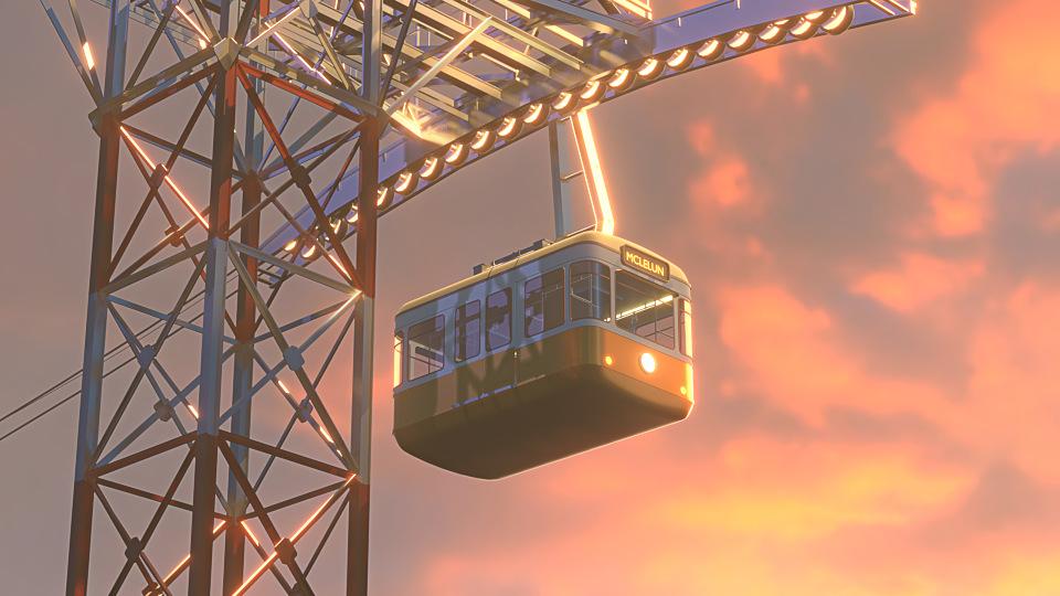 Mclelun, tram render with Eevee