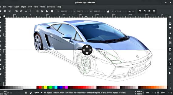 Split canvas in Inkscape