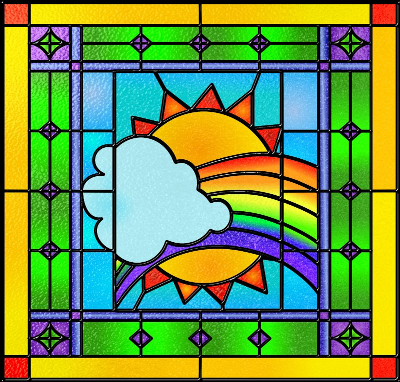 Stained glass panel with GIMP