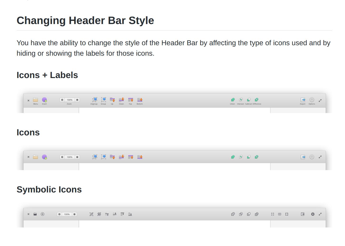 Header bar design for Akira
