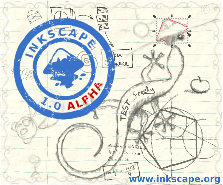 Alpha pre-release about screen for Inkscape 1.0