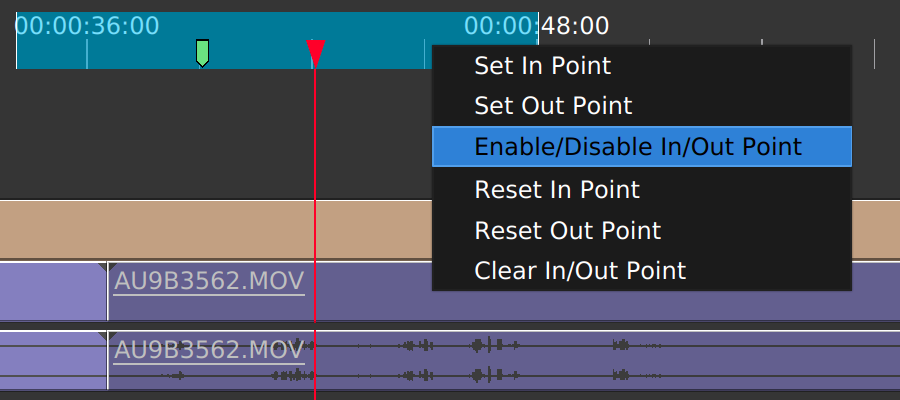 In/Out points toggling in Olive
