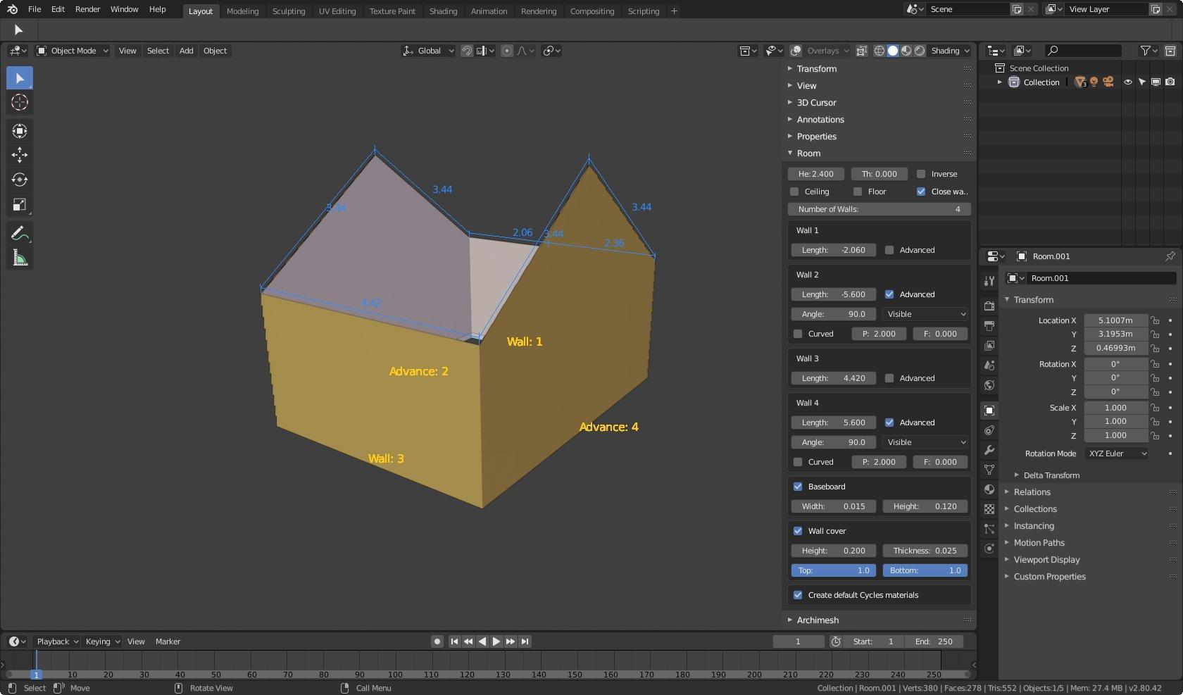Archimesh for Blender 2.80