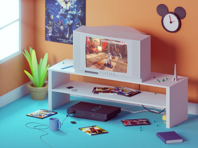 PlayStation 2, by Mohamed Chahin