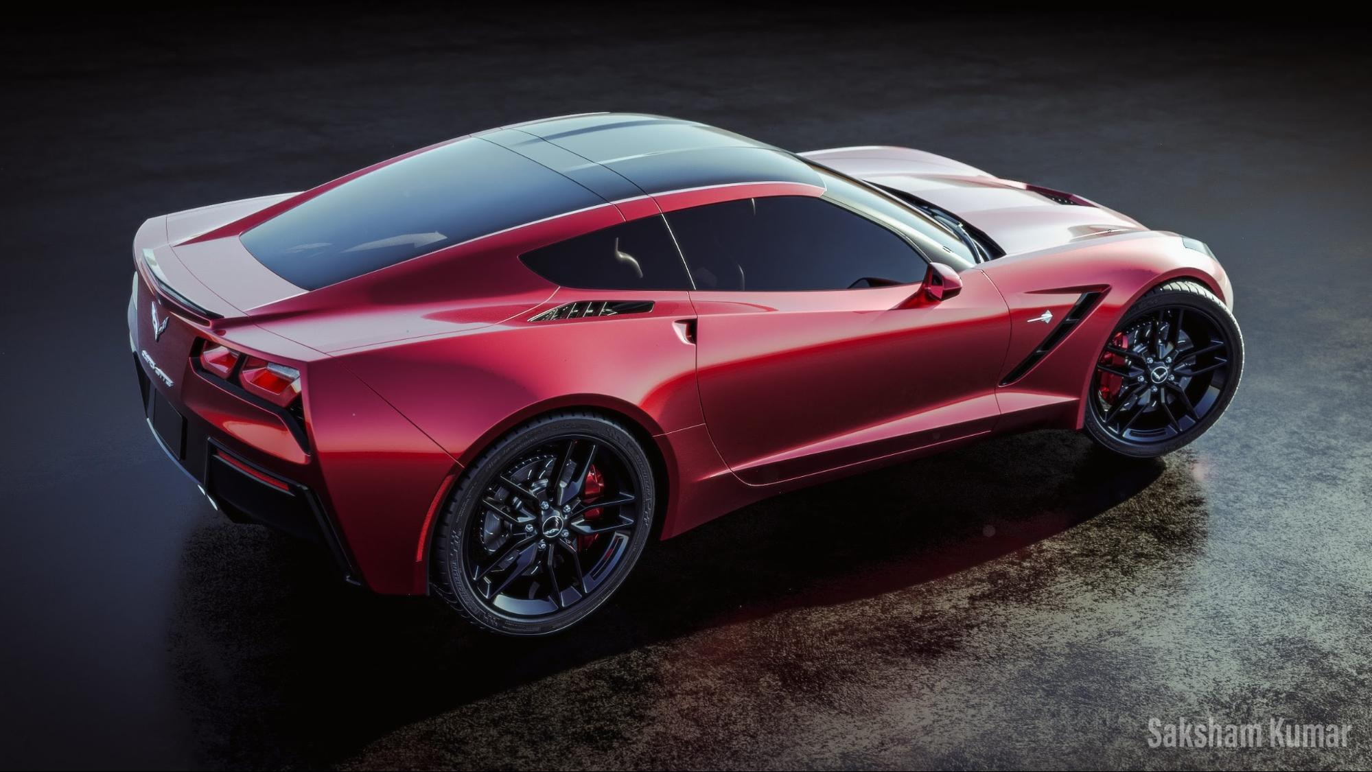 Corvette C7 Stingray render made with Blender