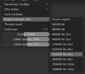 Oversampling in VCV Rack 1.0