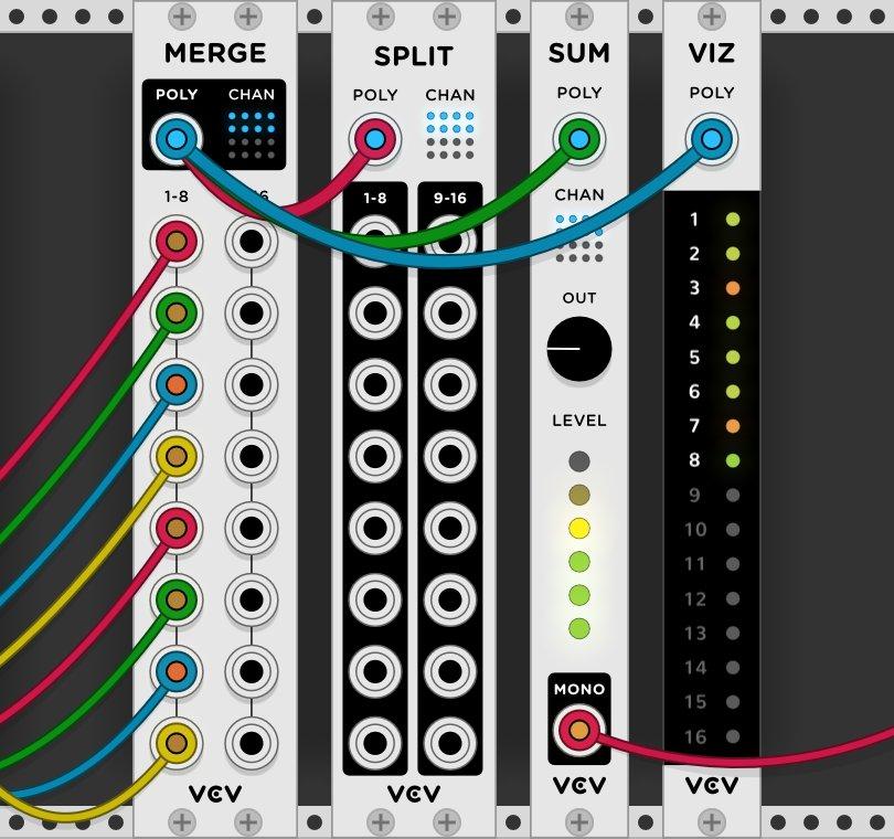 Poly plug-in in VCV Rack 1.0