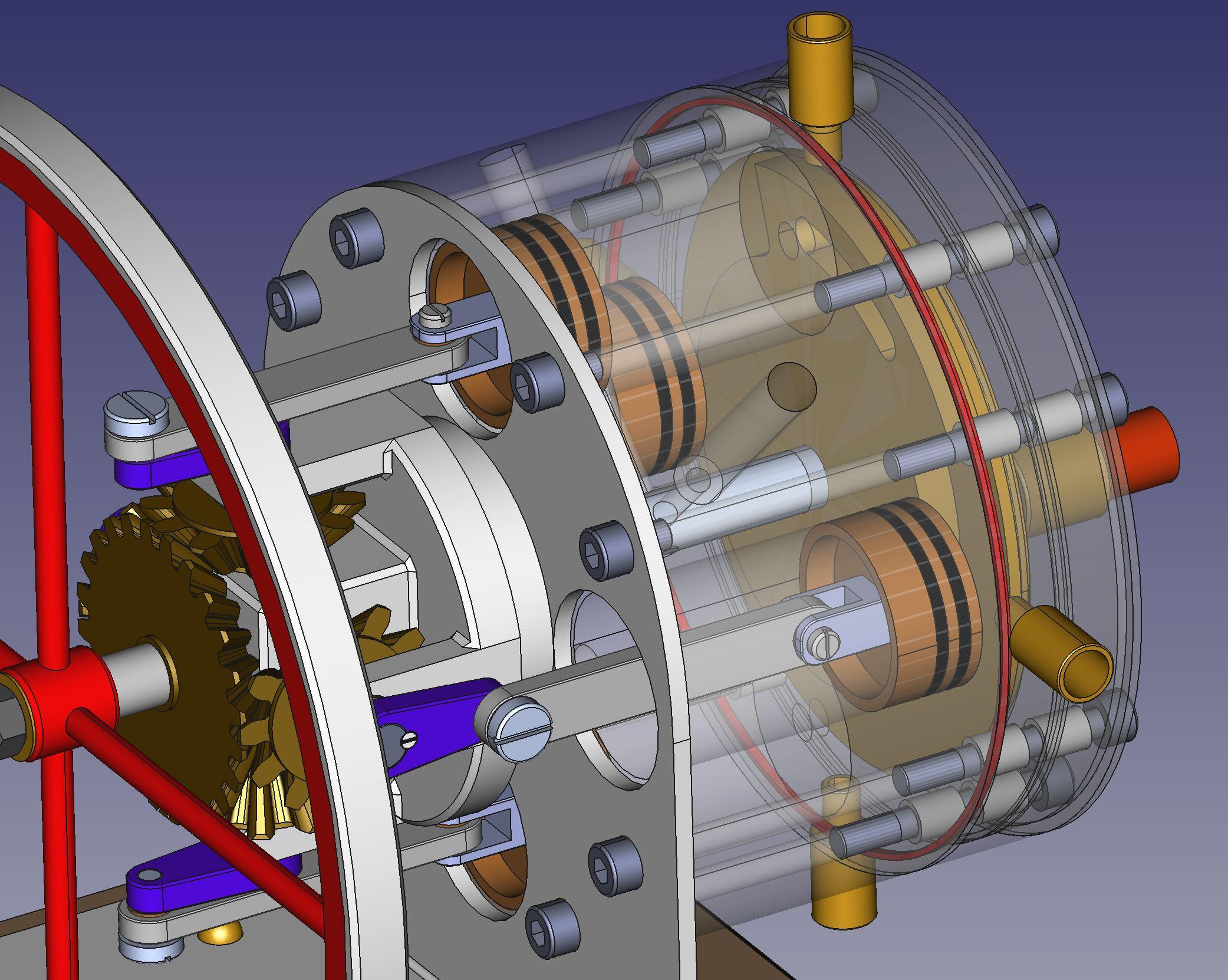 un1corn, FreeCAD, steam engine