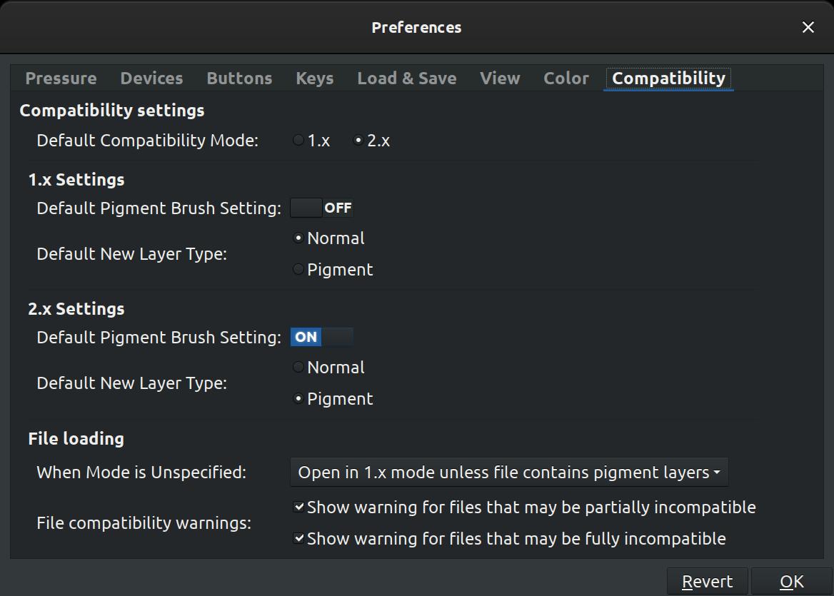 MyPaint 2.0 compatibility prefs