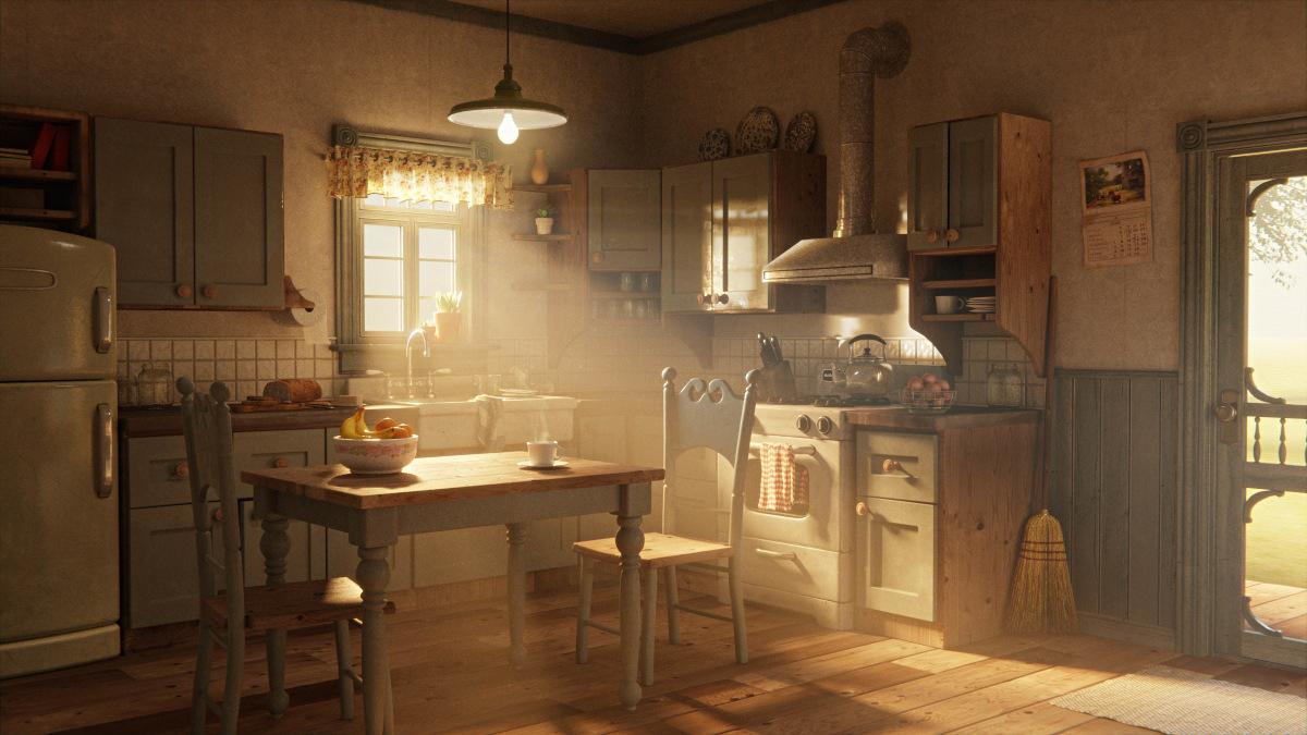 Farmhouse kitchen render, by clayton.95, Blender