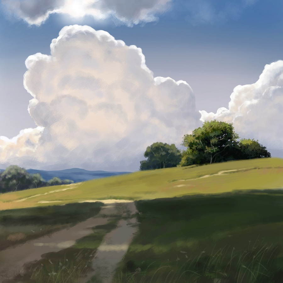 Fern Hamblin Gadd, landscape, Krita