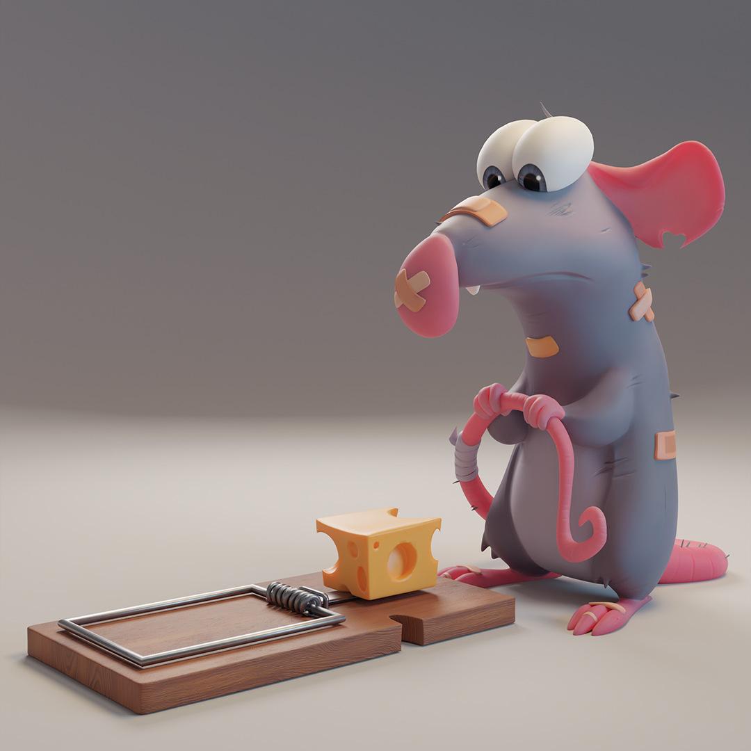 Stefanie Meer, rat sculpt, Zbrush/Blender