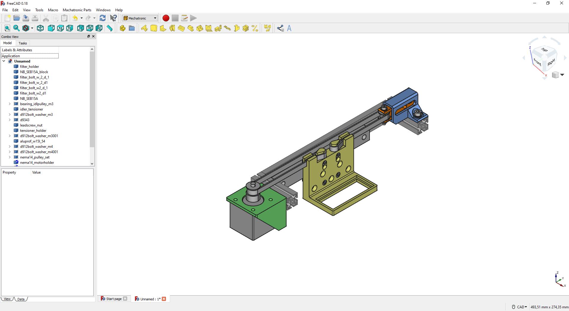 Mechatronic workbench for FreeCAD