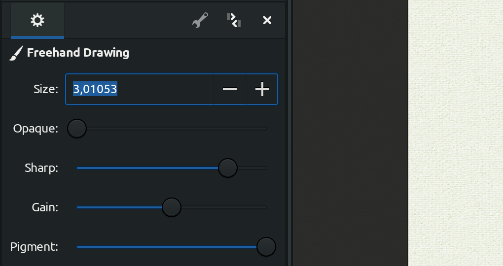 Numeric input in MyPaint